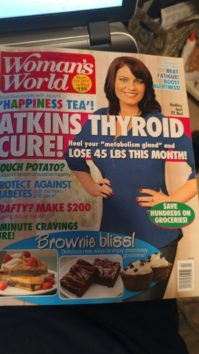 Terry Ryan Woman's World, Atkins Diet, Thyroid